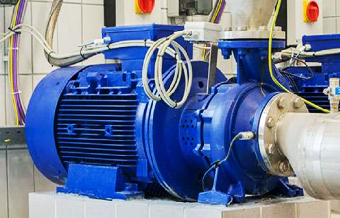blue machine used for the project